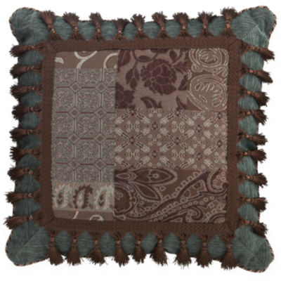 Croscill Classics® Catalina Brown Square Tassel Decorative Pillow