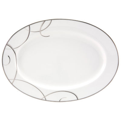 Nikko® Elegant Swirl China Oval Serving Platter