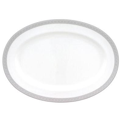 Nikko® Greek Key Bone China Oval Serving Platter