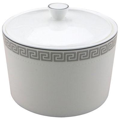 Nikko® Greek Key Bone China Sugar Bowl with Lid