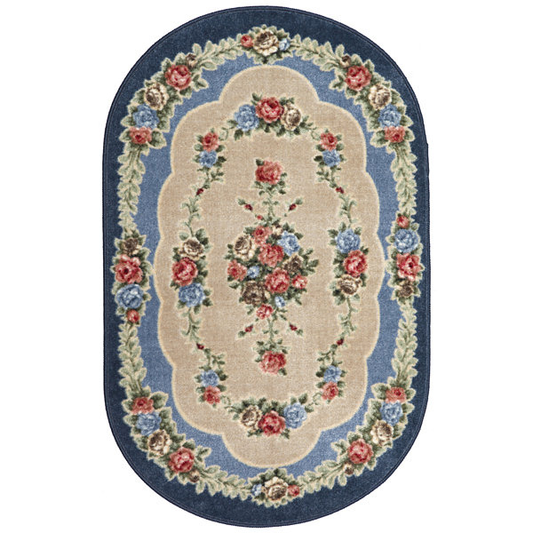 Rosewood Washable Oval Rug