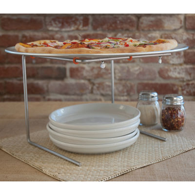 Charcoal Companion® Pizzacraft® Wire Pizza Stand with Aluminum Pan
