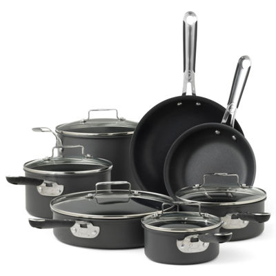 Emeril® 12-pc. Hard-Anodized Cookware Set + BONUS
