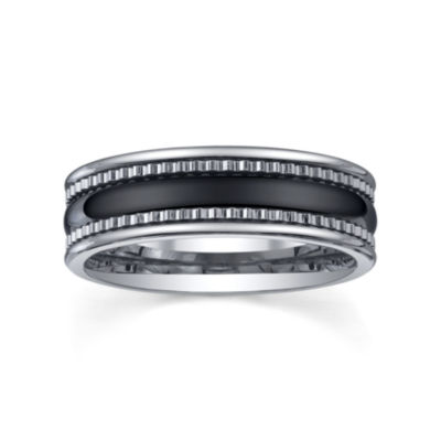 Tungsten Wedding Band, Mens 7mm