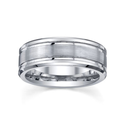 Tungsten Wedding Band, Mens 8mm