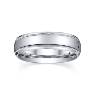 mens 6mm sterling silver wedding band - Jcpenney Mens Wedding Rings