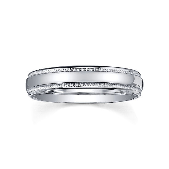 Wedding Bands For Women.Womens 4mm Sterling Silver Wedding Band