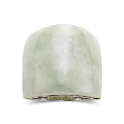 Jade Ring - Sterling Silver