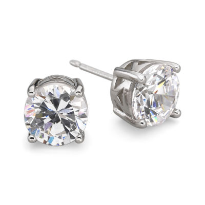 DiamonArt® Cubic Zirconia Silver Stud Earrings