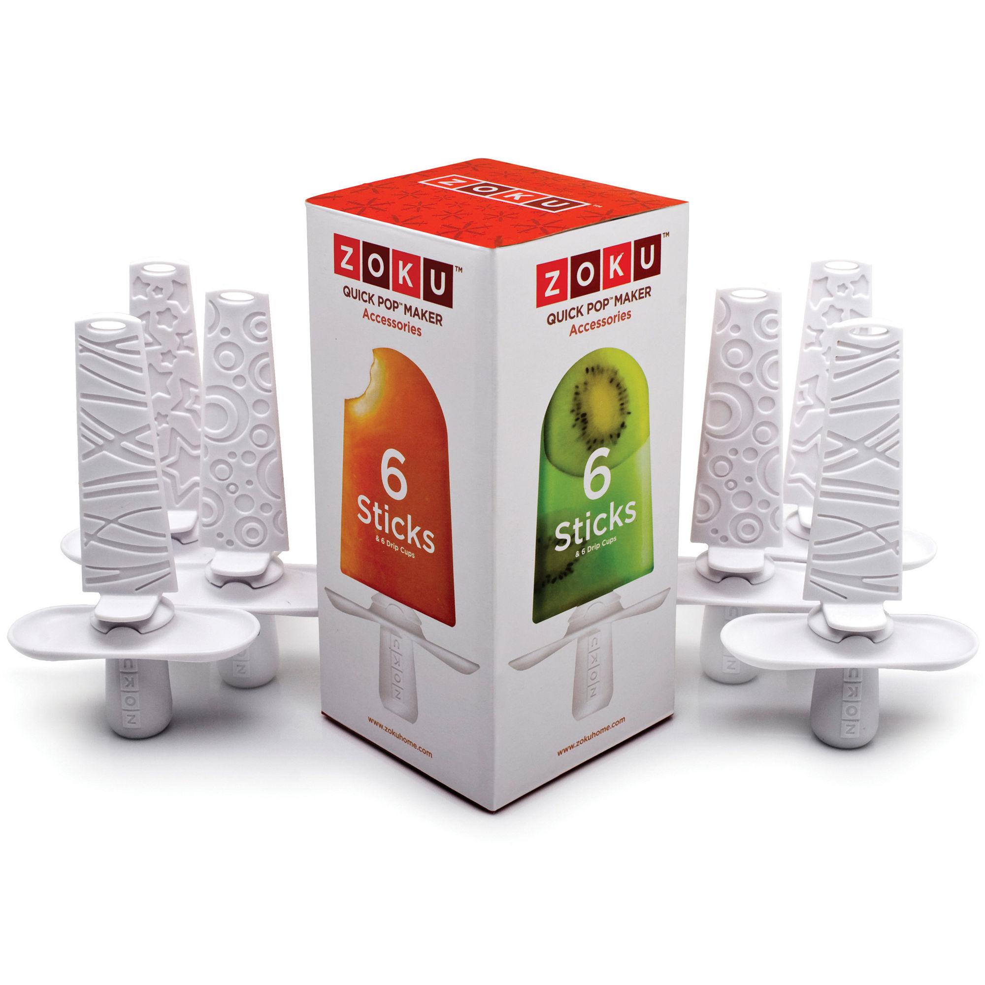 """Zoku Quick Pop"""" Set of 6 Ice Pop Sticks"""