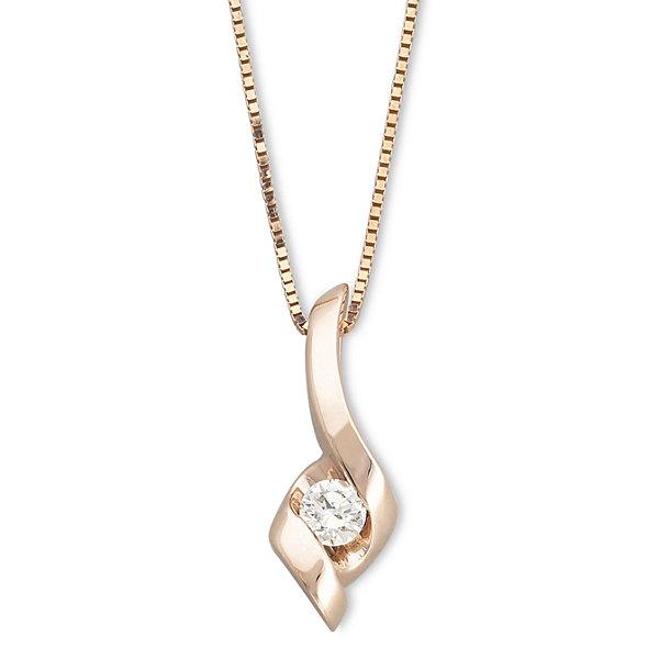 Sirena 110 ct diamond 14k rose gold pendant necklace jcpenney diamond 14k rose gold pendant necklace aloadofball Gallery