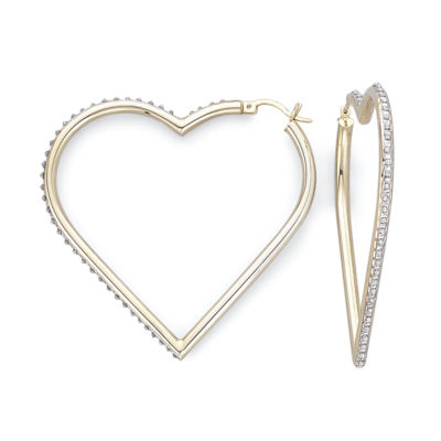 Diamond Fascination™ Heart Hoop Earrings