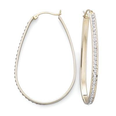 Diamond Fascination™ Pear Hoop Earrings