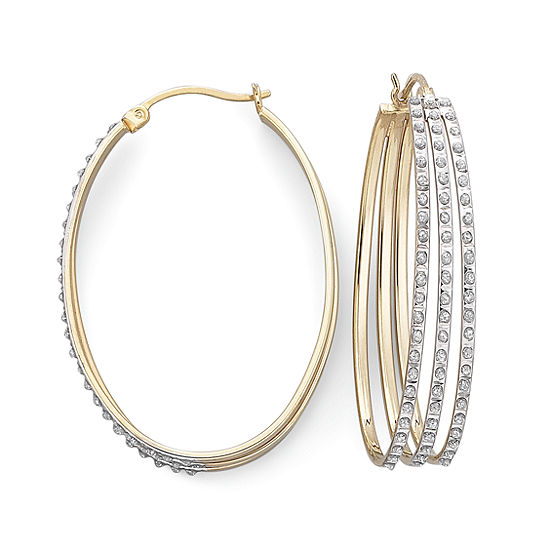 Diamond Fascination™ Triple Row Hoop Earrings