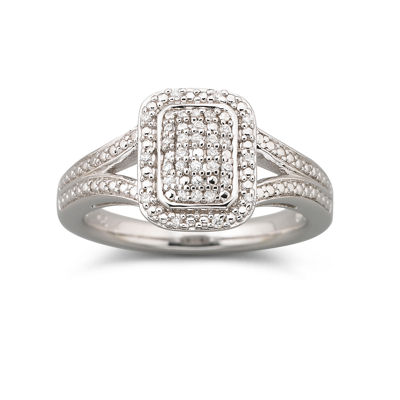 1/10 CT. T.W. Diamond Split Shank Ring