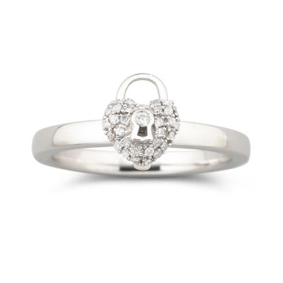 Personally Stackable 1/8 CT. T.W. Diamond Heart Ring