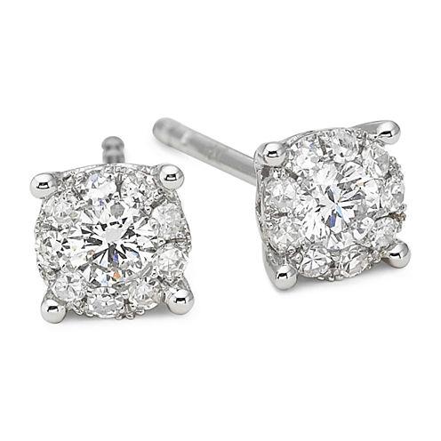 Brilliant Dream™ 1/3 CT. T.W. Round Diamond Stud Earrings 14K White Gold