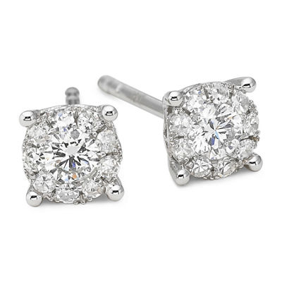 Brilliant Dream™ 1/3 CT. T.W. Round Diamond Stud Earrings 14K White Gold