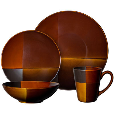 Gibson® Elite Convergence 16-pc. Color Block Dinnerware Set