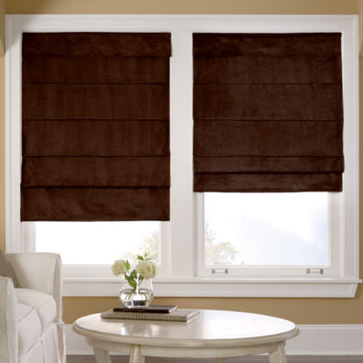 JCPenney Home™ Custom Suede Blackout Roman Shade