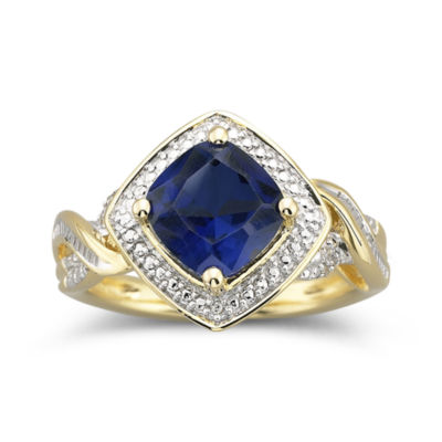 Womens 2 1/2 CT. T.W. Blue Sapphire Cocktail Ring