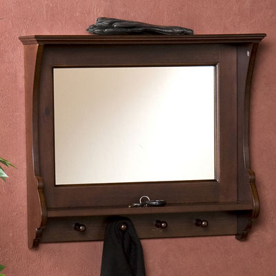 Delta Entry Organizer Wall Mirror