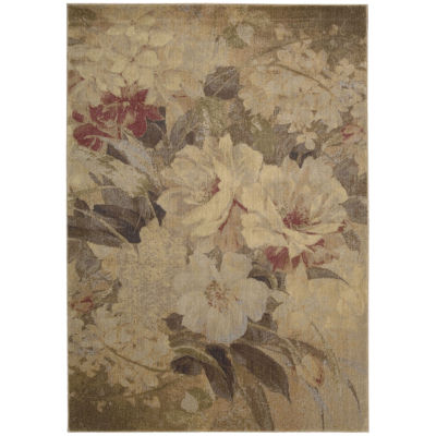 Nourison® Antique Floral Rectangular Rug
