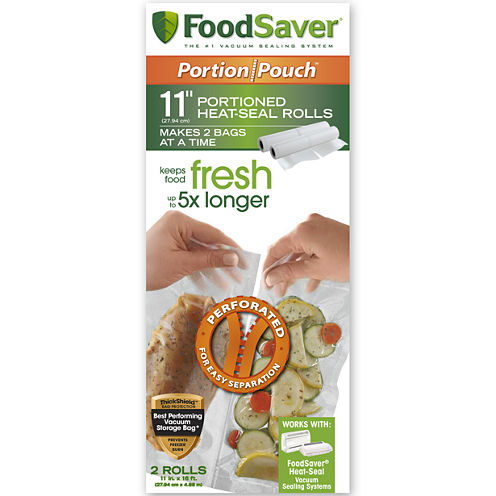 """FoodSaver® 2-Pack 11""""x16' Portion Pouch Rolls"""