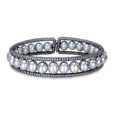 Cultured Freshwater Pearl Bangle Bracelet
