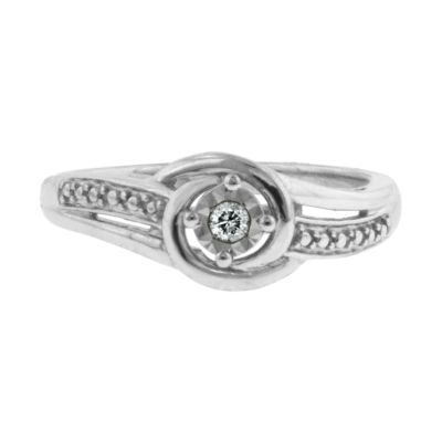 Diamond Accent Promise Ring Sterling Silver