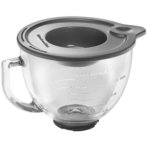 KitchenAid® 5-Qt. Tilt-Head Glass Bowl with Measurement Markings & Lid  K5GB