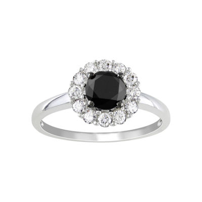 Midnight Black Diamond 1 1/2 CT. T.W. Black & White Diamond Engagement Ring