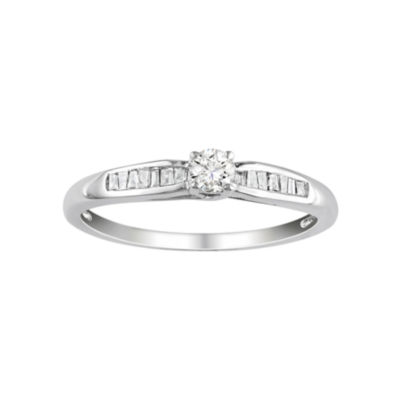 1/4 CT. T.W. Diamond Promise Ring Sterling Silver