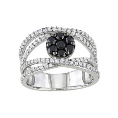 1/10 CT. T.W. Black & White Diamond Ring
