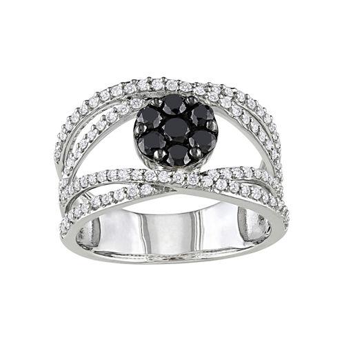 1/10 CT. T.W. Black & White Diamond Ring
