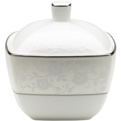 Mikasa® Venetian Lace Bone China Square Covered Sugar Bowl