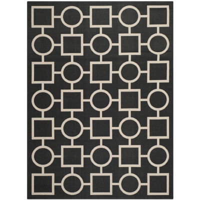 Safavieh Courtyard Collection Drew Geometric Indoor/Outdoor Area Rug