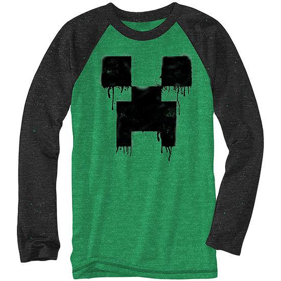 2a21ceca Boys Crew Neck Long Sleeve Minecraft Graphic T-Shirt Preschool / Big Kid -  JCPenney