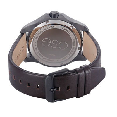 Esq Mens Brown Strap Watch-37esq009301a