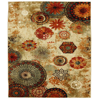 Mohawk Home Strata Caravan Medallion Printed Square Rugs
