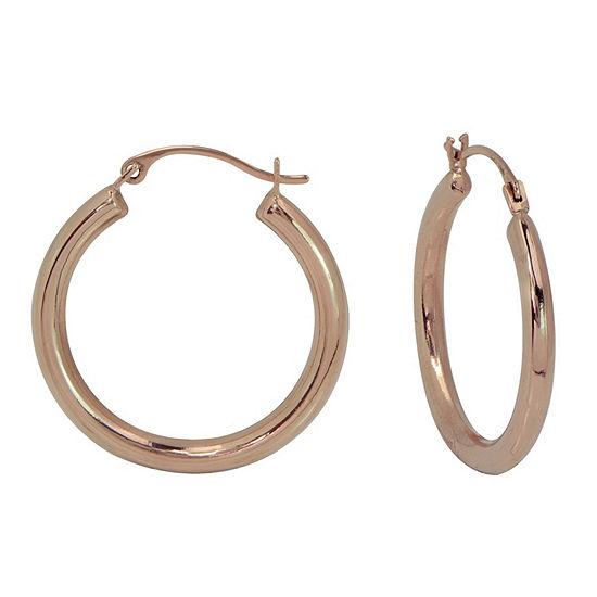 14K Gold 14K Rose Gold Hoop Earrings