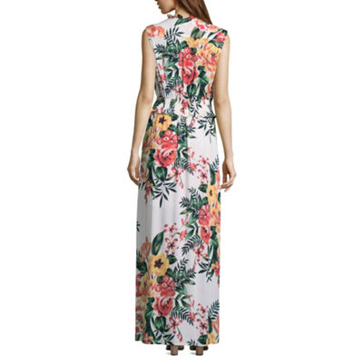 Weslee Rose Sleeveless Floral Maxi Dress