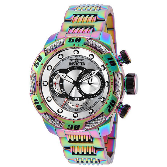 Invicta Speedway Mens Chronograph Multicolor Stainless Steel Bracelet Watch-25485