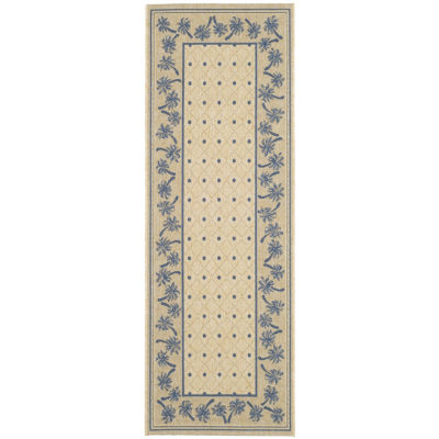 Safavieh Courtyard Collection Moema Floral Indoor/Outdoor Runner Rug