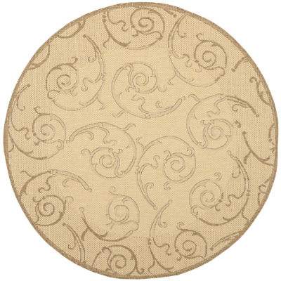Safavieh Torvald Oriental Round Indoor/Outdoor Area Rug