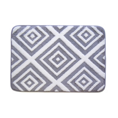 Farrah Collection Jacquard Memory Foam Bath Mats