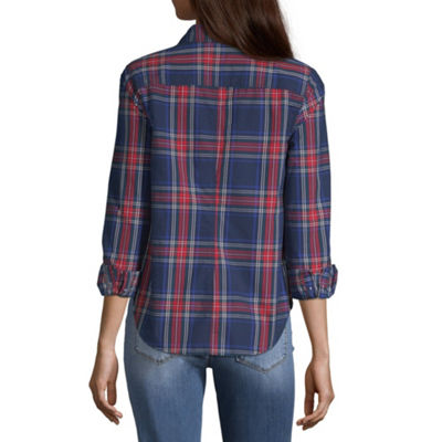 Peyton & Parker Long Sleeve Button-Front Shirt