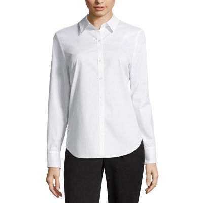 Worthington Long Sleeve Button-Front Shirt - Tall