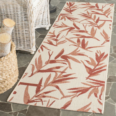 Safavieh Courtyard Collection Windsor Floral Indoor/Outdoor Runner Rug