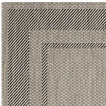Safavieh Courtyard Collection Lorna Stripe Indoor/Outdoor Square Area Rug